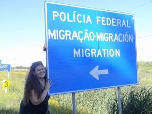 Cruzando a fronteira do Brasil!