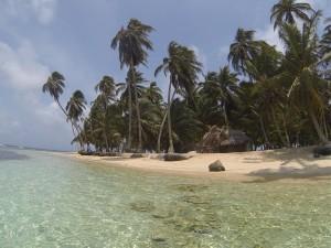 Uma das ilhas de Kuna Yala